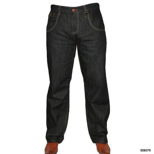 Mens C3NTR4L Indigo Crinkle Effect Casual Jeans Size 34 Regular