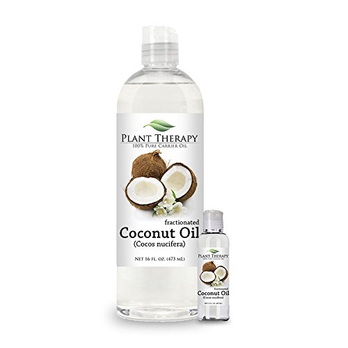 Coconut (Fractionated) Carrier Oil. A Base Oil for Aromatherapy, Essential Oil or Massage use. (16 oz Plus 2 oz)