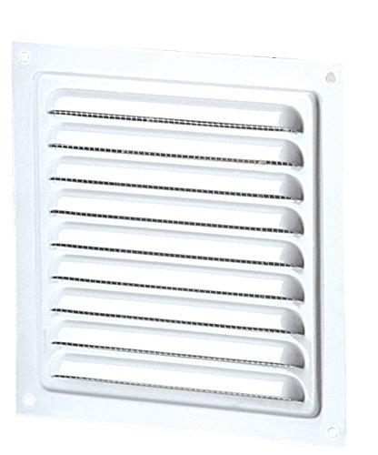 Fassade 125x 125mm, in metallo, colore: bianco, per tubo da 100mm