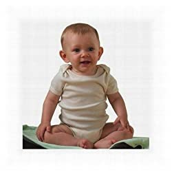 Bella Infant 100% Organic Cotton 5.8 oz infant bodysuit w/lapped shoulders