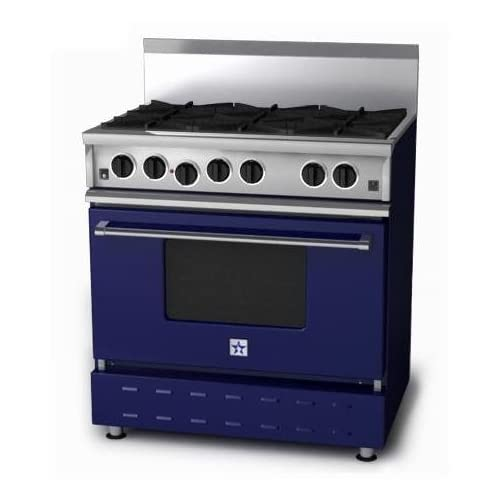 Amazon.com: BlueStar Range RNB 36 Inch Natural Gas Range - Cobalt Blue
