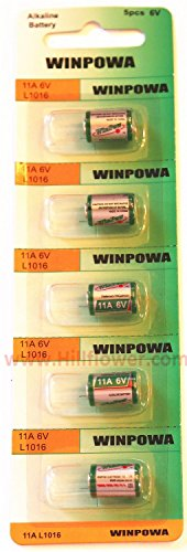 500 pcs 11A Card 6V Alkaline Battery Compatible with A11 GP11A L1016 11A MN11 AG11 plus Hillflower Coupon