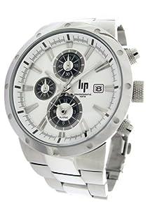 Lip - 10511322 - Montre Homme - Acier - Quartz Analogique - Chronographe - Dateur - Bracelet Acier