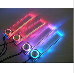 Liroyal 4In1 12V Car Auto Interior Led Atmosphere Lights Floor Decoration Lamp Random Color