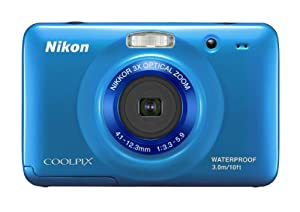 Nikon COOLPIX S30 10.1 MP Digital Camera with 3x Zoom Nikkor Glass Lens and 2.7-inch LCD (Blue)