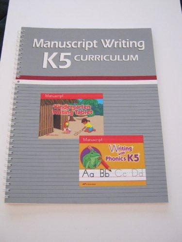 A Beka Manuscript Writing K5 Curriculum