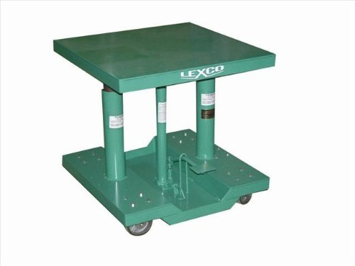 """Wesco Industrial Products 492207 Steel Foot Operated/Electric Hydraulic Lift Table, 2000 Pound Capacity, 30"""" Length X 20"""" Width Tabletop, 40"""" Height"""