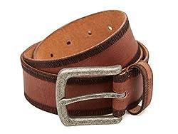 Breakbounce Men's Leather Belt (8907066079686_Medium_Tan)