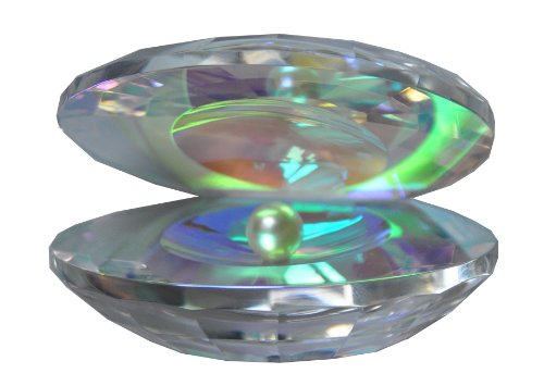 Oleg Cassini Crystal Oyster with Pearl 139061 Iridescent (Crystal Oleg Cassini compare prices)