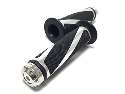 (nakira) 次世代スタイル カスタム グリップ バー エンド付属 アルミ オートバイ用 φ 22.2 mm (シルバー)