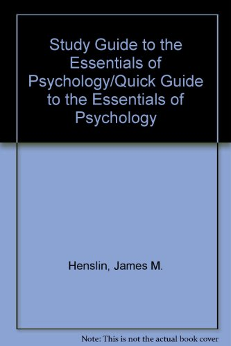 Study Guide to the Essentials of Psychology/Quick Guide to the Essentials of Psychology