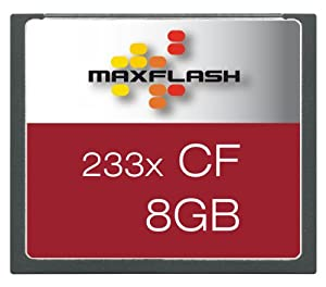 Technaxx Carte mémoire Maxflash Compact Flash (CF) 233x 8 Go