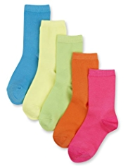 5 Pack Neon Assorted Socks