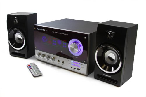 Dr-S10 Durherm 2.1 Channel Glass Surface Led Equalizer Usb Sd Mp3 Audio Inputs Home Audio Woofer Speaker System W/ Wireless Remote