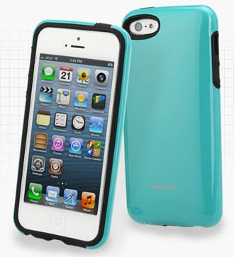 Apple Iphone 5 / 5S Uv Coated Hard Forest Green Case, Iphone Battery Cover