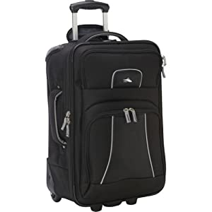"High Sierra Elevate 22"" Carry-On Wheeled Upright (Black/Silver EXCLUSIVE COLOR)"