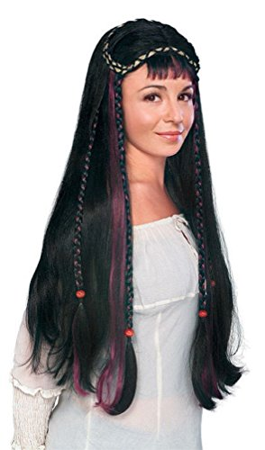 Popcandy Black Renaissance Fair Maiden Wig (Fair Maiden Renaissance Costume)