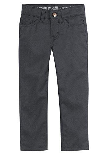 Dickies Little Boys' Slim Skinny Fit 5-Pocket Pant, Black, 2T