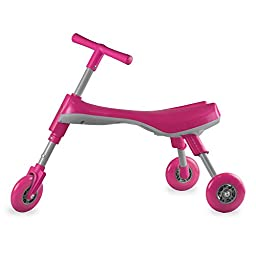 Fly Bike® Foldable Indoor/Outdoor Toddlers Glide Tricycle - No Assembly Required (Pink/Pearl)