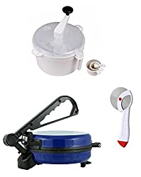 GTC COMBO OF NATIONAL BLUE ROTI MAKER, DOUGH MAKER AND PIZZA CUTTER