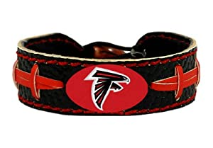 Buy NFL Atlanta Falcons Black Team Color Football Bracelet by GameWear