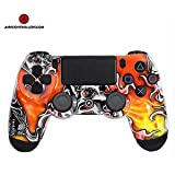 PS4 DualShock 4 PlayStation 4 Wireless Controller - Custom AiMControllers Lucky6 Design with Paddles. Left X, right O