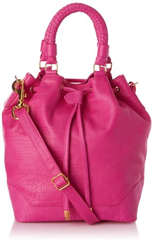 La Bagagerie Women's Riviera Shoulder Bag Pink Rose (Fuschia) Taille Unique
