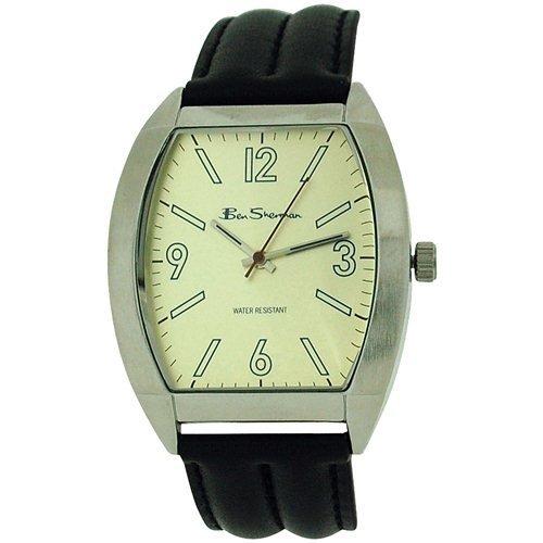 Ben Sherman Gents Analogue Beige Dial & Genuine Black Leather Strap Watch R916