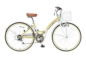 My Pallas(マイパラス) 折りたたみ自転車 M-505-NA 26インチ 6段変速 ナチュラル