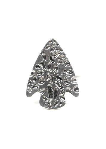 Arrowhead Ring Adjustable Tribal Native Silver Tone Southwestern Vintage Cocktail Rj12 Fashion Jewelry