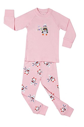 "Elowel Girls ""Snowman"" 2 Piece Pajama Set 100% Cotton - 6 Years front-971859"