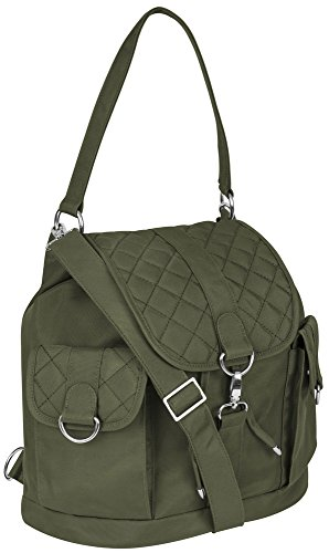 Travelon Convertible Backpack Handbag with RFID Protection - Olive