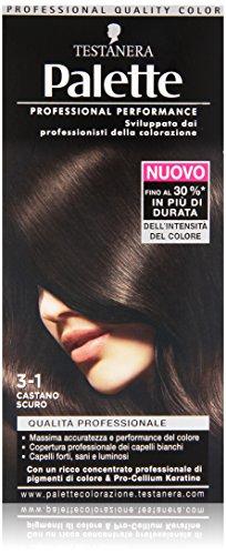Testanera - Palette, Crema Colorante, 3-1 Castano Scuro - 1 confezione