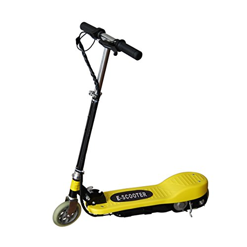 Maxtra® Electric Scooter Motorized Scooter Bike Rechargeable Battery Yellow E120