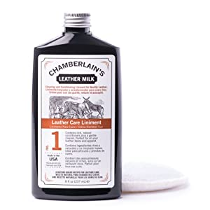 Chamberlain's Leather Milk 8oz Leather Care Liniment Conditioner No. 1: Best Leather Cleaning and Conditioning Liniment for Quality Leather Care. from Chamberlain's Leather Milk