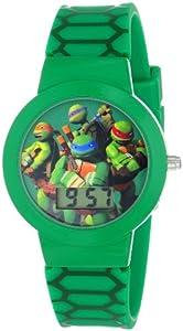 Nickelodeon Teenage  Mutant Ninja Turtles Kids' TMN4027 Digital Display Analog Quartz Green Watch