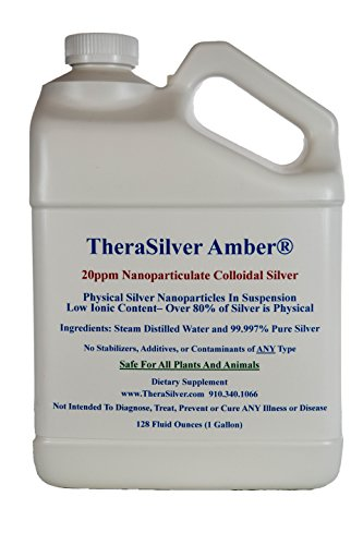 1 Gallon TheraSilver Amber Nanoparticulate Colloidal Silver 20ppm