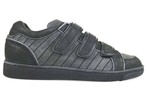 scarpe uomo DSQUARED sneakers nero / grigio pelle scamosciata AM655 (41 EU)