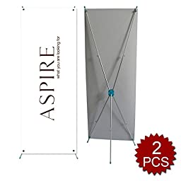 Aspire Tripod X Banner Stand, Height Adjustable 2Pcs