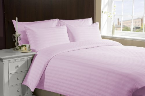 "650 Tc Egyptian Cotton Bed Sheets For Camper'S, Rv'S, Bunks & Travel Trailers 4 Piece Set 18"" Deep Pocket Rv Three Quarter (48X75"") Pink Stripe front-52299"