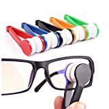 Onwon 5 Pcs Mini Sun Glasses Eyeglass Microfiber Spectacles Cleaner Soft Brush Cleaning Tool Mini Microfiber Glasses Eyeglasses Cleaner Cleaning Clip (Random Color)