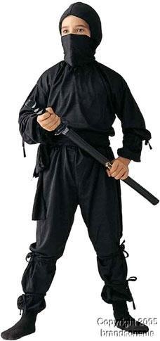 Ninja Child Costume By RG Child Medium (8-10)