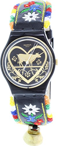 swatch-gb285-die-glocke-black-dial-floral-embroidery-leather-women-watch-new