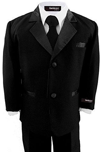 [Big Boy's Formal Dresswear Set G211 (16, Black Tux)] (Odd Squad Costume)