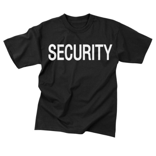 Mens T-Shirt - Security 2-Sided, Black, 5X-Large By Rothco