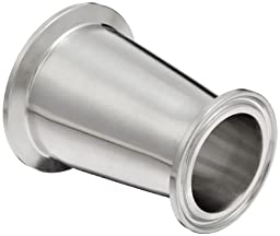 Dixon B3114MP-R200150 Stainless Steel 316L Sanitary Fitting, Clamp Concentric Red Fiberglassucer, 2\