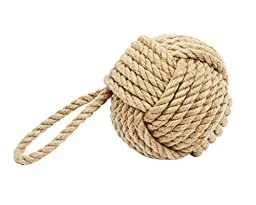 DEI Jute Monkey Fist Knot Door Stopper