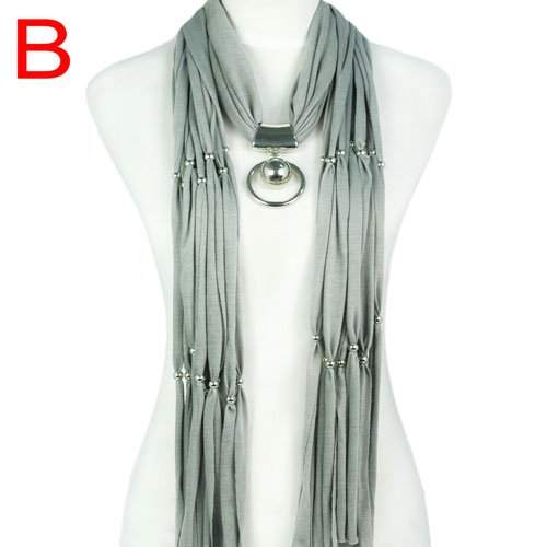 NEW! long pendant scarf beads charm jewellery