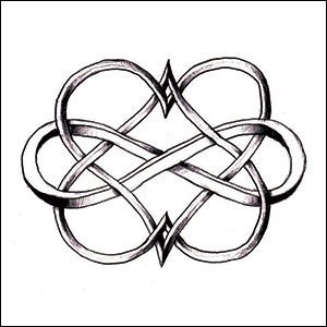 Amazon.com : Double Heart Infinity Temporary Tattoo : Beauty