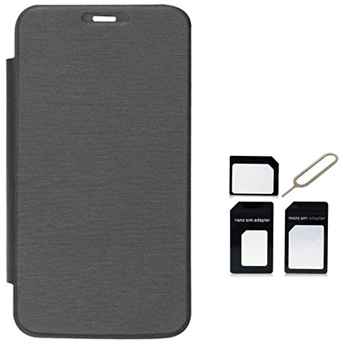 Tidel Black Premium Flip Cover For Micromax Bolt A71 WITH Micro /Nano SIM Adapter  available at amazon for Rs.189